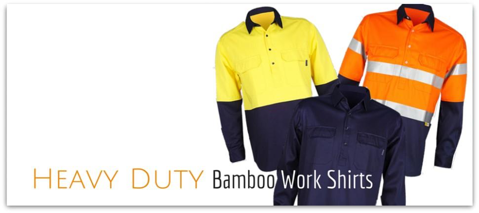 Men's Hi Vis Bamboo Work Shirts