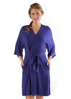 Bamboo Dreams® Nina Belted Robe - Iris