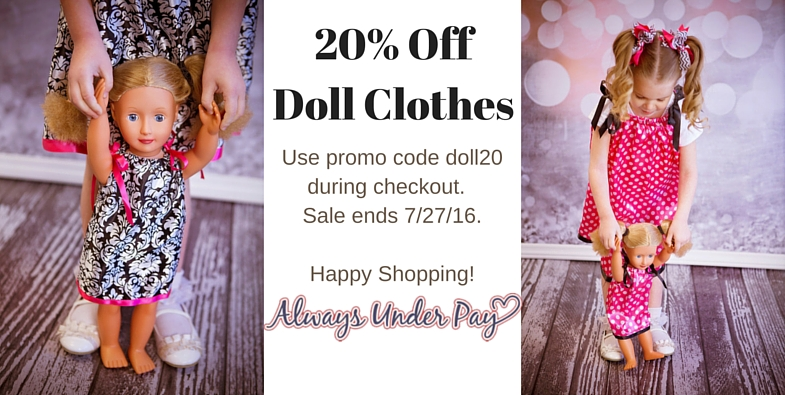 Doll Clothing Sale