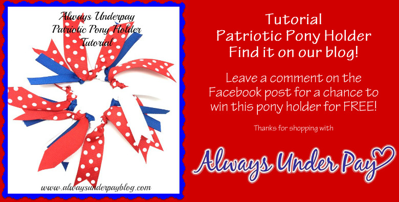 Alwaysunderpay Patriotic Pony Holder Do It Yourself Tutorial