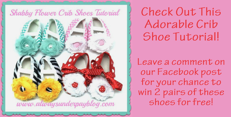 Shabby Flower Crib Shoe Tutorial