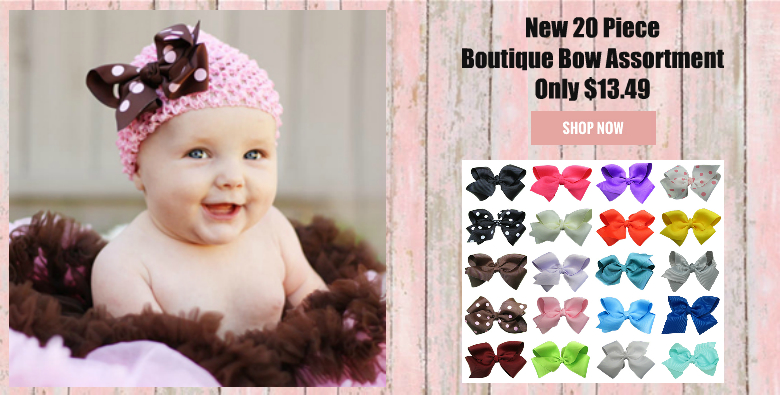20 Boutique Bow Assortment for girls