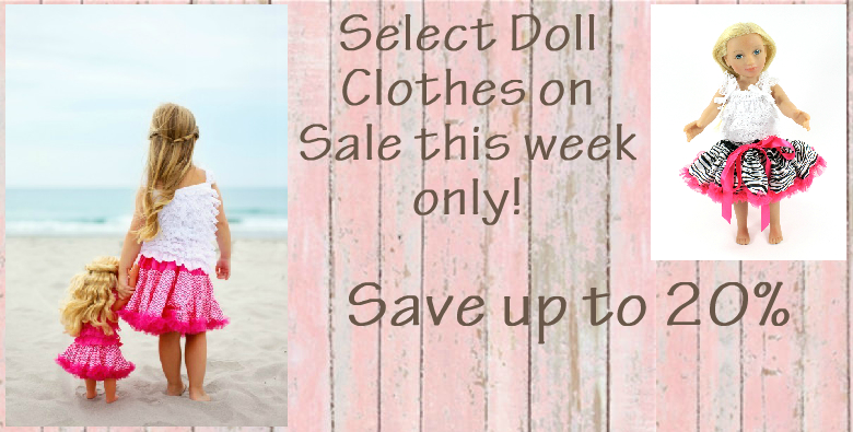 Doll clothes on sale