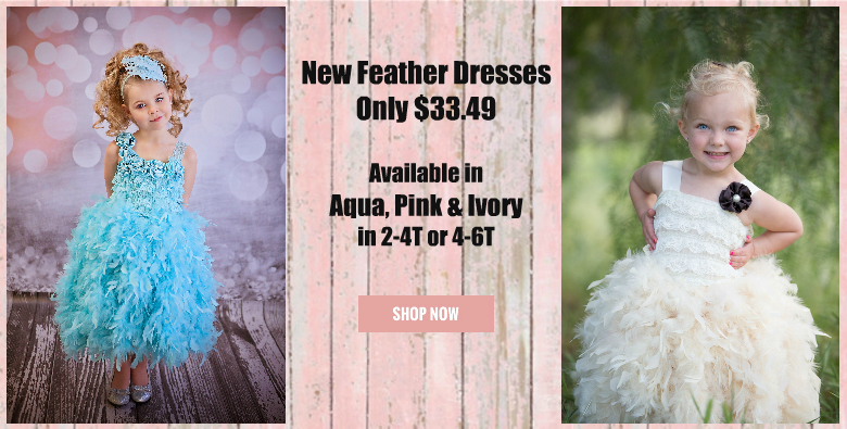 Feather Dresses for girls and toddlers
