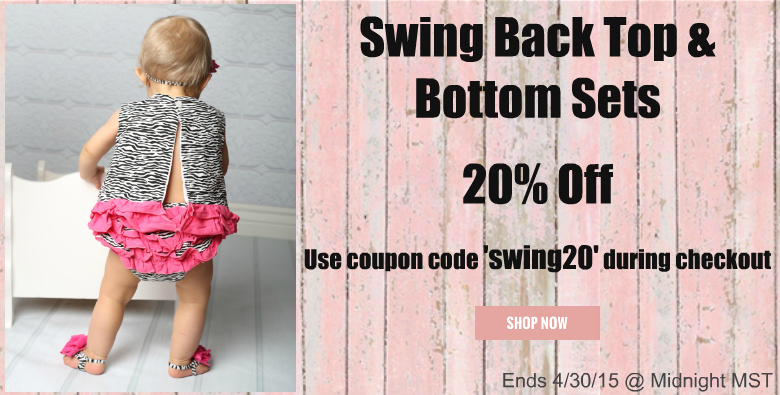 Swing back top and bottom sets on sale