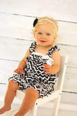 Black Chevron Satin Romper