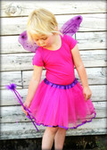 Ribbon Lined Dance Tutu Dark Pink Purple