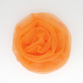 Orange Chiffon Rosettes