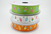 Orange Popsicle Grosgrain Ribbon