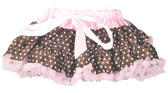 Brown Light Pink with Dots Pettiskirt