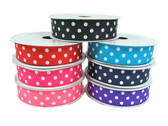 Red Polka Dot Grosgrain Ribbon