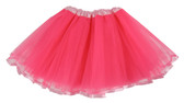 Neon Pink Light Pink Ribbon Lined Dance Tutu