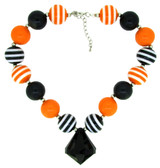 Halloween Chunky Necklace with Diamond