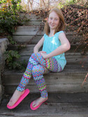 Bright Colors with Hearts Leggings