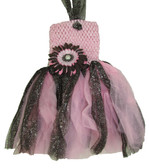 Light Pink Brown Daisy Glitter Tutu Dress