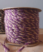 Purple & Natural Jute Cord