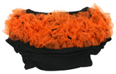 Black Diaper Cover with Orange Ruffles