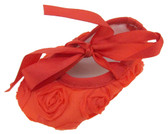 Red Rosette Crib Shoes