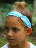 Aqua Chevron Turban Headbands