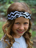 Black Chevron Turban Headbands