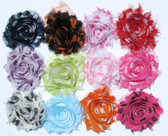 New Assorted Polka Dot Shabby Flowers