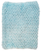 Aqua Tutu Top Crochet Headband