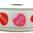 "5/8"" Grosgrain Conversation Heart Ribbon"