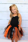 Black & Orange Halloween Shredded Tutu