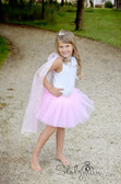 Light Pink Princess Tutu & Cape Set for Kids