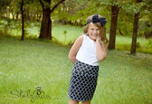 Black Quatrefoil Maxi Skirt for Girls