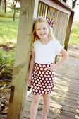 Brown With Pink Dots Maxi Skirt for Girls