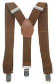 Brown Adjustable Suspenders For Infant, Newborn and Toddler Boys