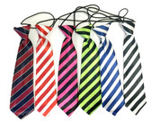 6 Assorted Striped Boy's Neck Ties For Toddlers