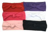Assorted Knot Tied Cotton Headbands For Girls