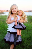 Chevron Print Petti Skirt Black (Doll Skirt Sold Separately)