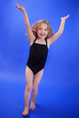 Black Dance Leotards with Straps