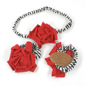 Red Cotton Flower on Zebra Skinny Headband with Shoes