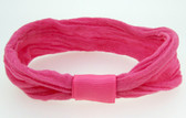 12 Hot Pink Nylon Headbands