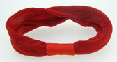 12 Red Nylon Headbands
