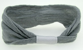 12 Gray Nylon Headbands
