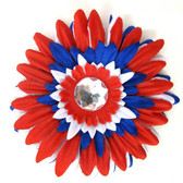 Red, White & Blue Gerber Daisy Flower Clips