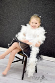White Feather Boa Chandelle