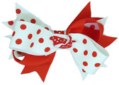 Red & White with Red Dots Double Tied Bows