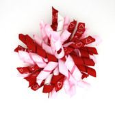 Pink & Red with White Hearts Korker Bows