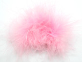 Light Pink Marabou Puff Clips