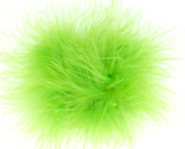 Lime Green Marabou Puff Clip