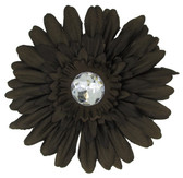 Chocolate Brown Gerber Daisy Flower Clip
