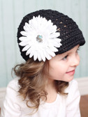 White Gerber Daisy Flower Clips