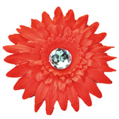 Red Gerber Daisy Flower Clip