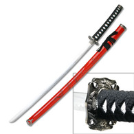 Red Scabbard w/ Dragon Sword